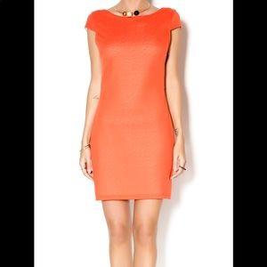 ADELYN RAE    orange cross cross back dress size S